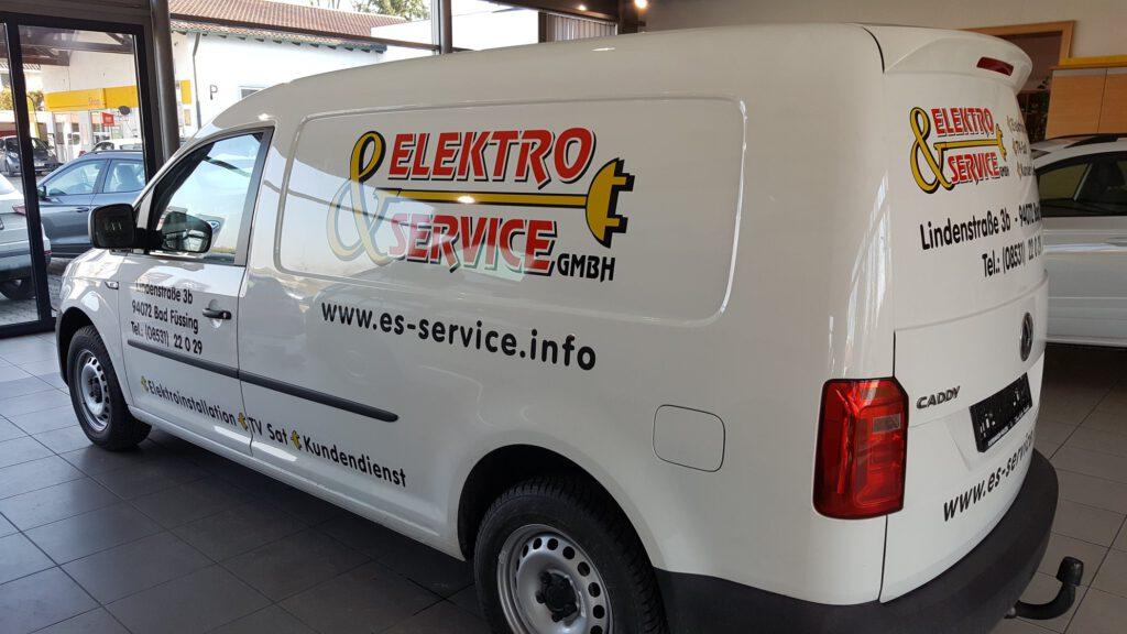 Transporter Beschriftung Elektroservice