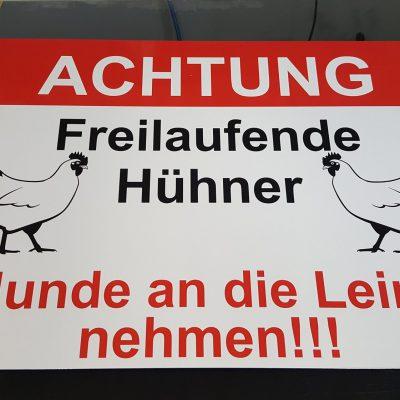 Schild Hühner